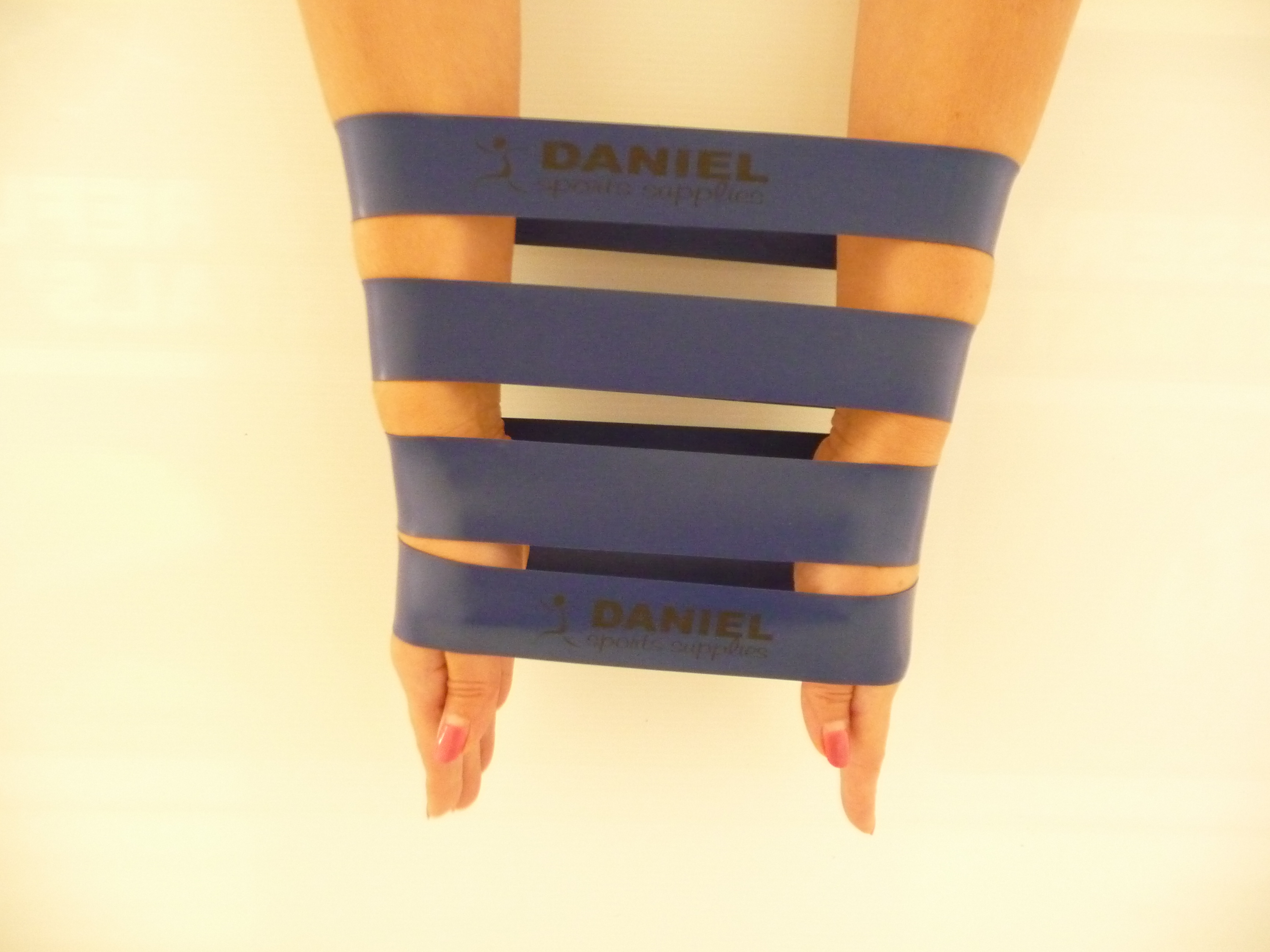 Exercise resistance Latex band 20 pack Blue Intermediate