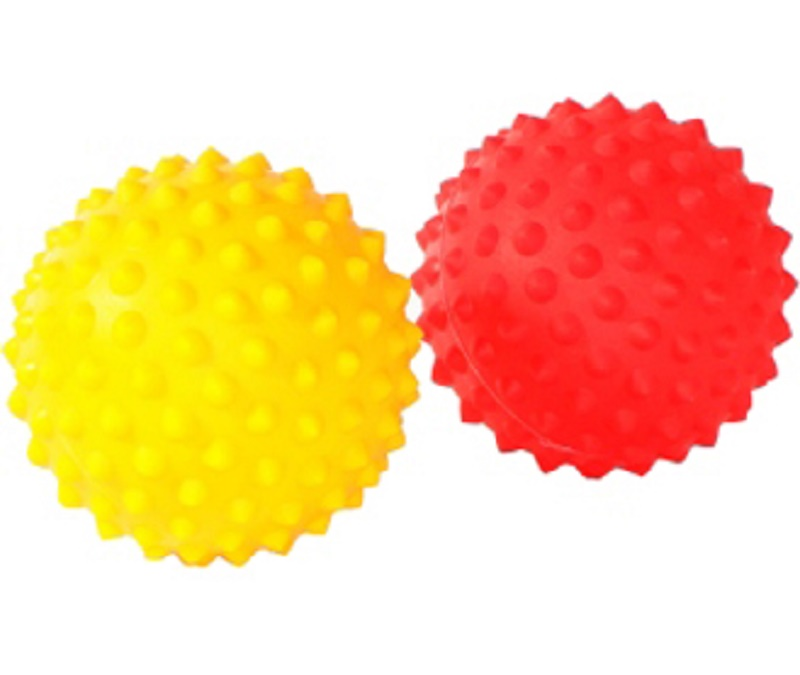 Prickle Stimulating Balls sold in pairs- Red/Yellow