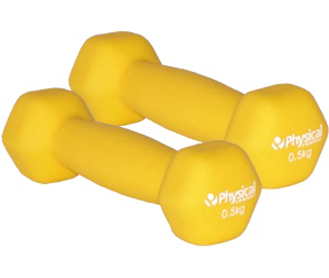Neoprone Hex Dumbbells-0.5kg -sold in pairs