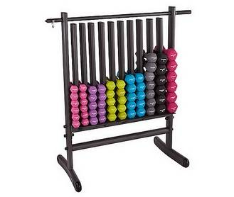 Storage rack with Dumbells, FREE UK MAINLAND DELIVERY
