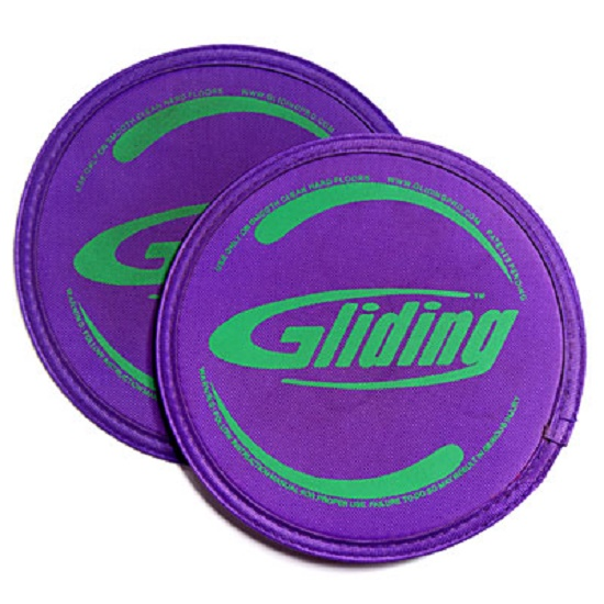 Gliding discs for hardwood flooring