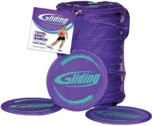Gliding disc instructor 13 pack for hardwood flooring