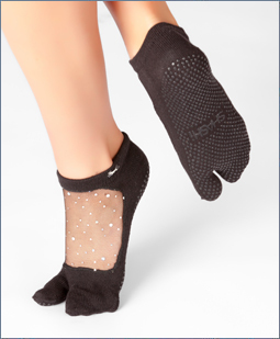 Shashi Sparkly Pilates/ Yoga socks split toe