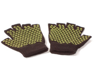 Sticky yoga fingerless gloves Medium size